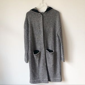 Free People Long Knit Jacket with Hood
